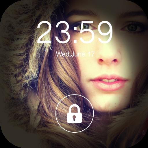(Little Girl Lock Screen : Cute Pink Screen Lock)