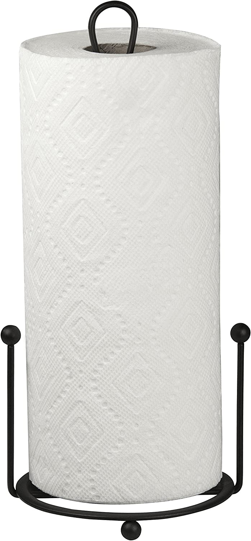 Home Basics Paper Towel Holder, Black