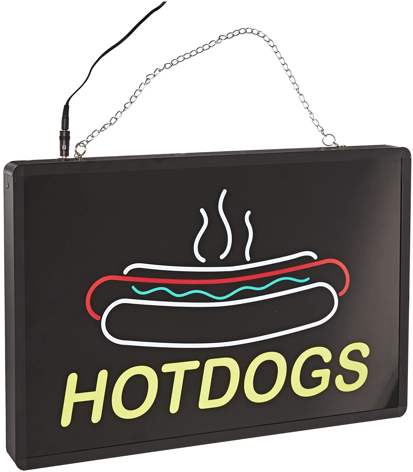 Benchmark 92002 Ultra-Bright Max 87% OFF Sign Hotdogs Daily bargain sale Wid 13