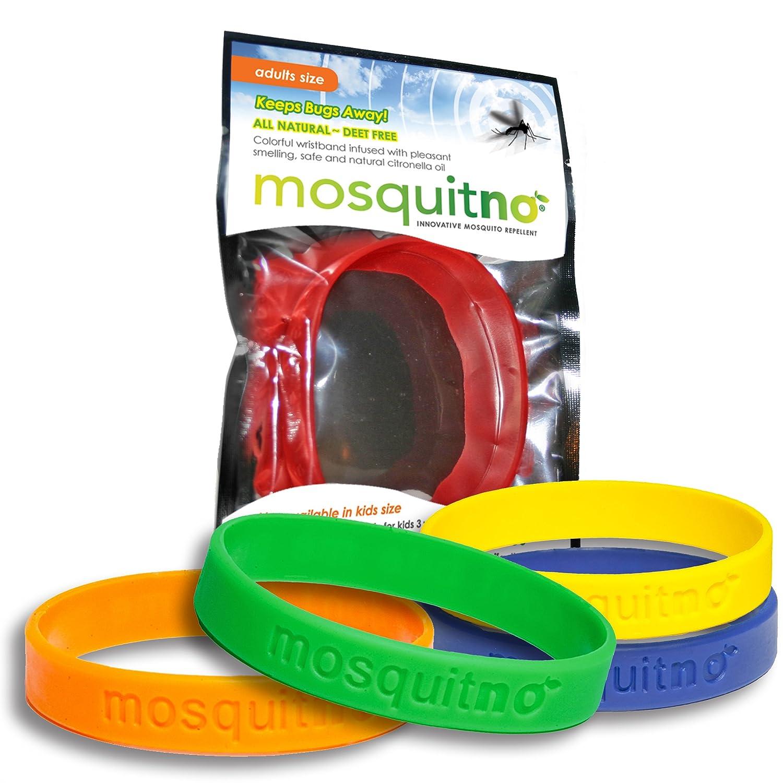 Mosquitno Natural Citronella Waterproof Mosquito Beauty Barn Kid Body Oil Repellent Wristbands Adult 5 Pack Red Orange Green Navy Yellow Garden Outdoor