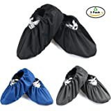 3 Pairs Waterproof Non Slip Washable Reusable Shoe Covers For Household Thickened Boot Covers