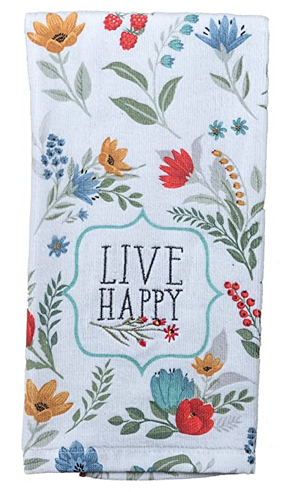 Kay Dee Designs R3940 Blooming Thoughts Embroidered Terry Towel, 6 Piece