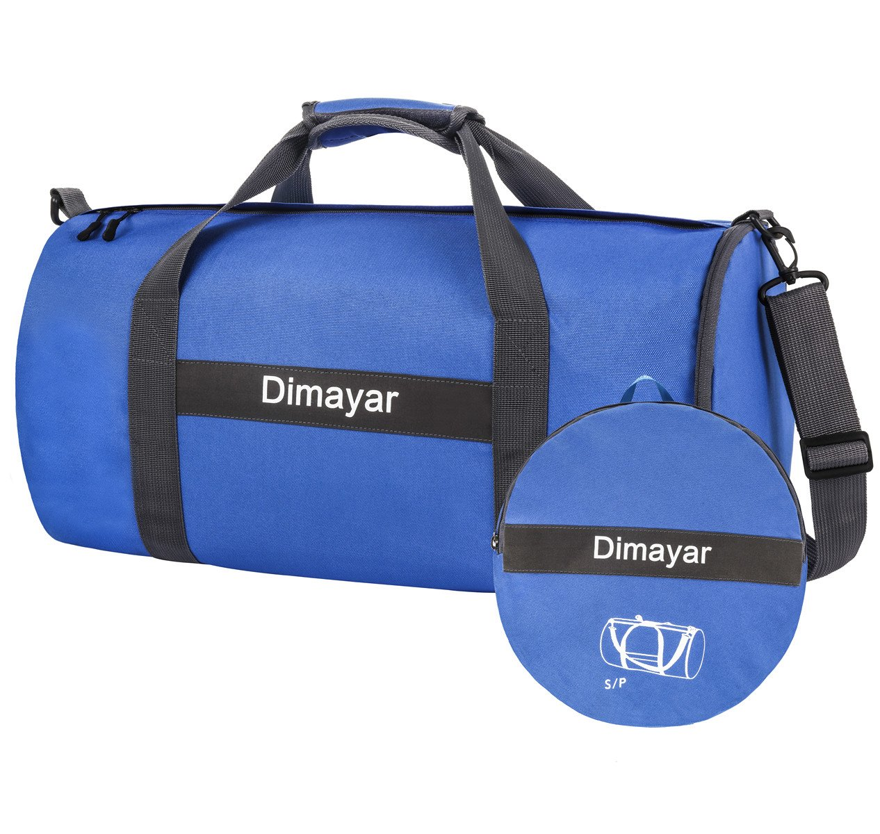 Dimayar Travel Duffle Bag For Women Men Foldable Duffel Bags For Luggage Gym Sports