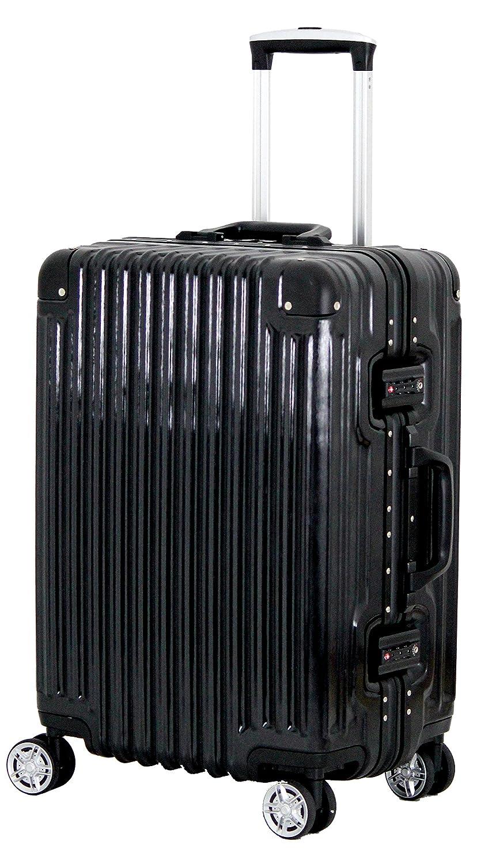 [トライデント] スーツケース ハードフレームケース アルミ調 シフレ 1年保証 保証付 51L 52cm 4.4kg TRI1030-52  ブラック B075MJRSJS