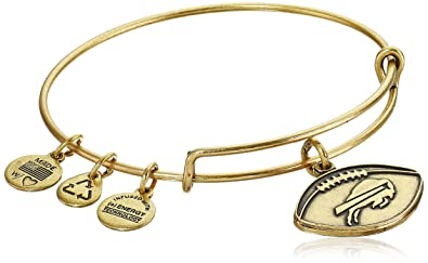 777ea39d9b9 Alex and Ani Buffalo Bills Football Expandable Rafaelian Gold Bangle  Bracelet