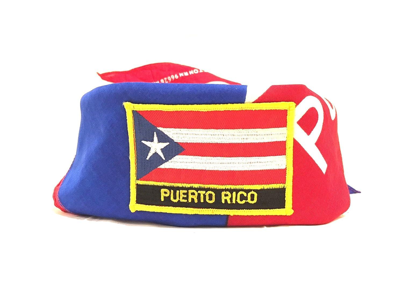 Bandera de Boricua estilo Puerto Rico & Bandana para planchar ...