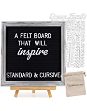 """12x12 Inch Rustic Black Felt Letter Board 