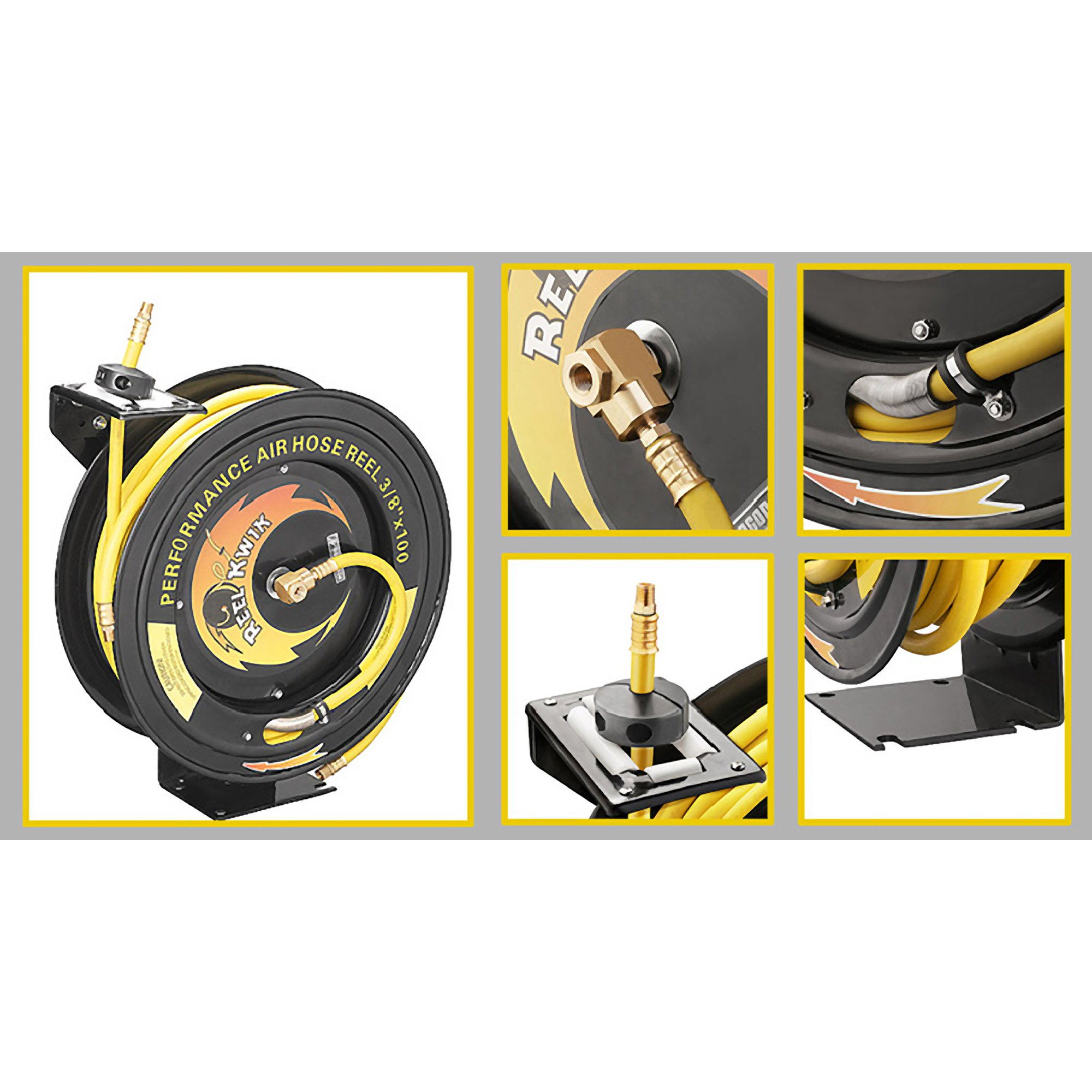 Pentagon Tools 3260 Reel Kwik Air Hose Reel, 100' by Pentagon Tools