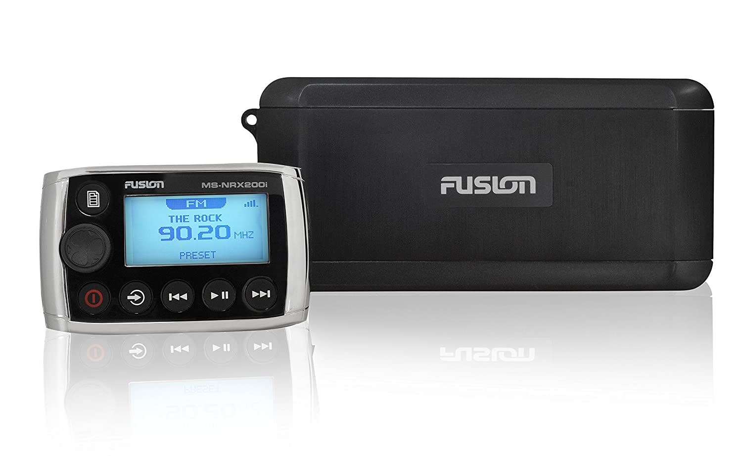 Fusion Marine Box With Wired Remote Black Sports Wiring Harness Outdoors