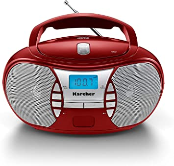 Karcher Rr 5025 R Tragbares Cd Radio Cd Player Boomboxen Ukw Radio Batterie Netzbetrieb Aux In Rot Heimkino Tv Video