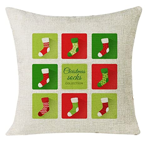AMhomely - Funda de cojín para decoración de Navidad, para ...