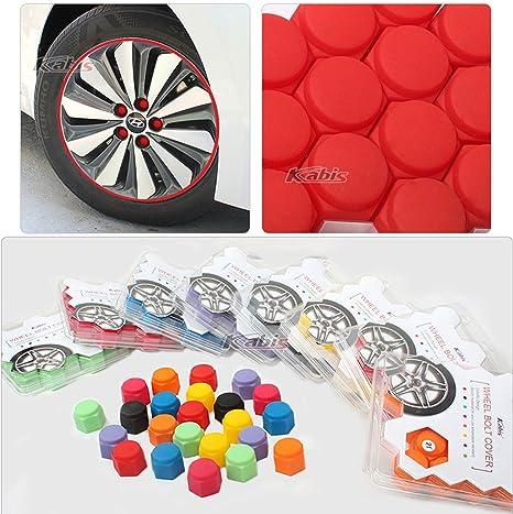 20 tapones de silicona para rueda de coche, 8 colores