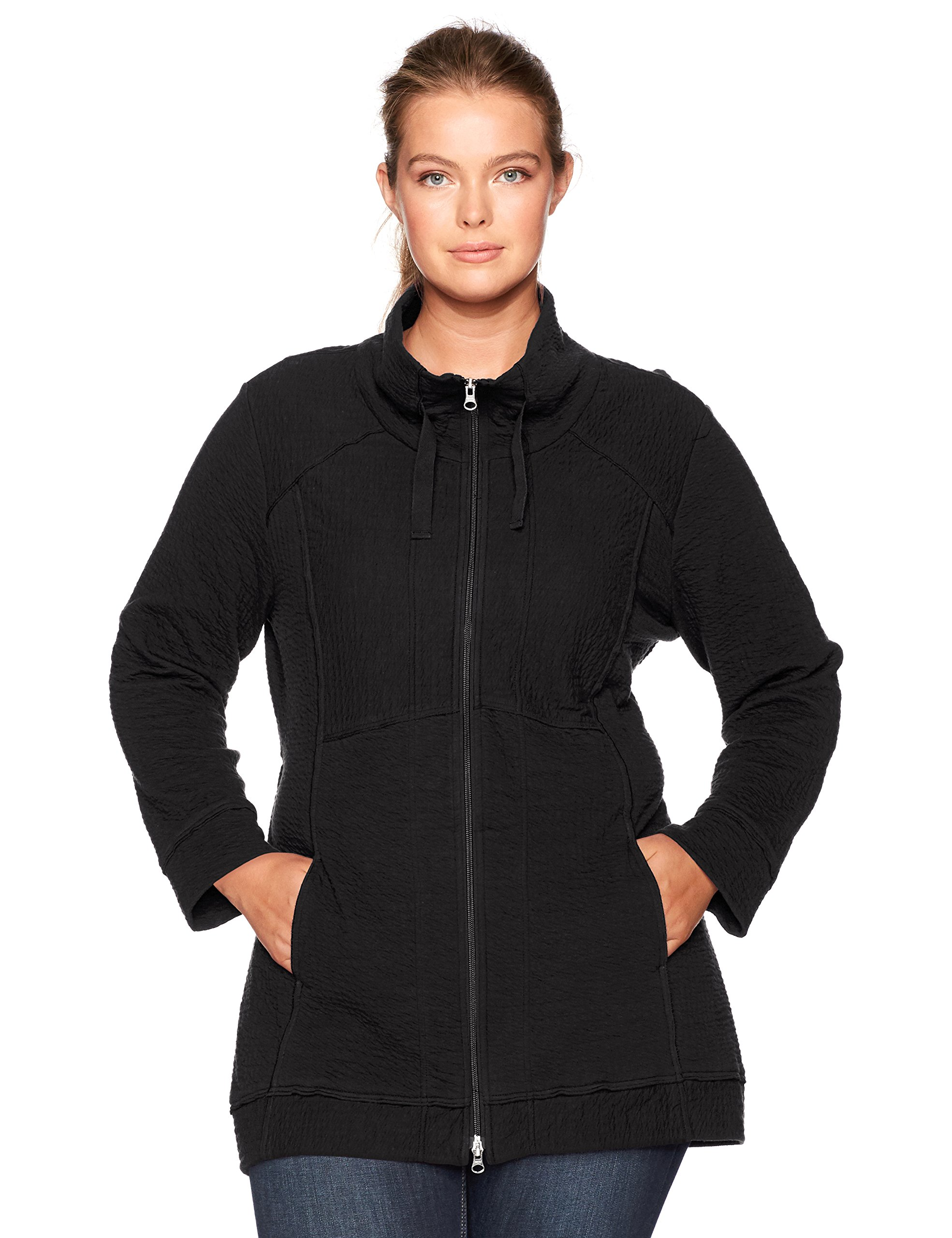 Neon Buddha Women's Plus Size Fulton Jacket, Black, 1X
