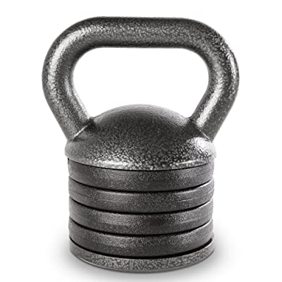 Apex Adjustable Heavy-Duty Exercise Kettlebell Weight Set Strength Training and Weightlifting Equipment