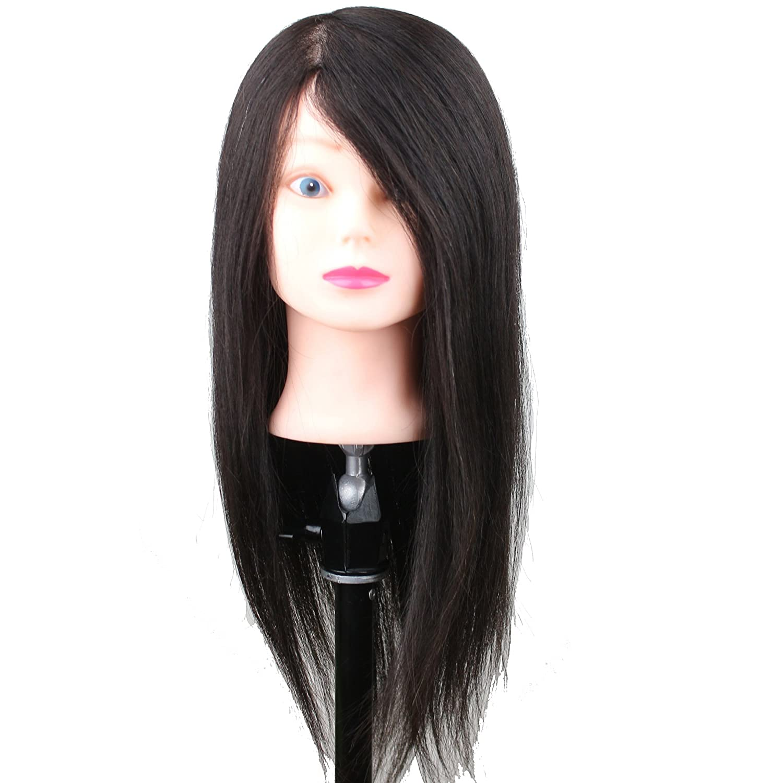 Dreambeauty Cosmetology Real Human Hair Manikin Head Dyeable Straight Natural Black Hair Qingdao Feiyang Hair Co. Ltd