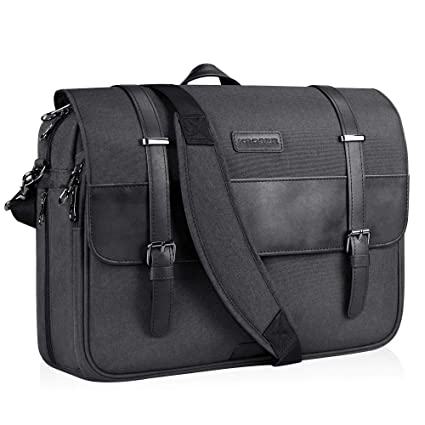 dfc0dff068 KROSER Laptop Messenger Bag 15.6 inch Laptop Bag Water-Repellent Briefcase  Stylish Flapover Computer Case