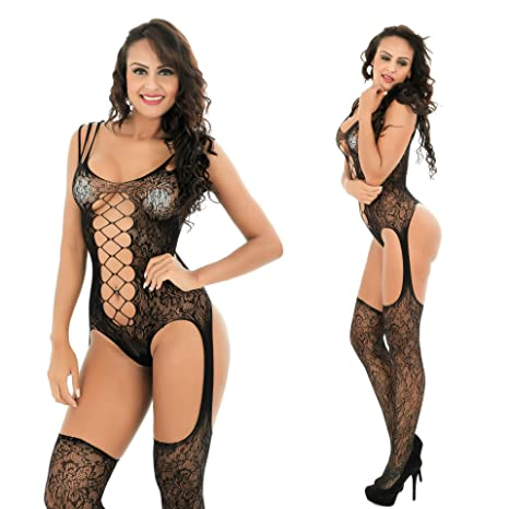 Women's Clothing Enthusiastic 2019 Women Bodysuit Body Stocking Lingerie Fishnet Underwear Nightwear Black