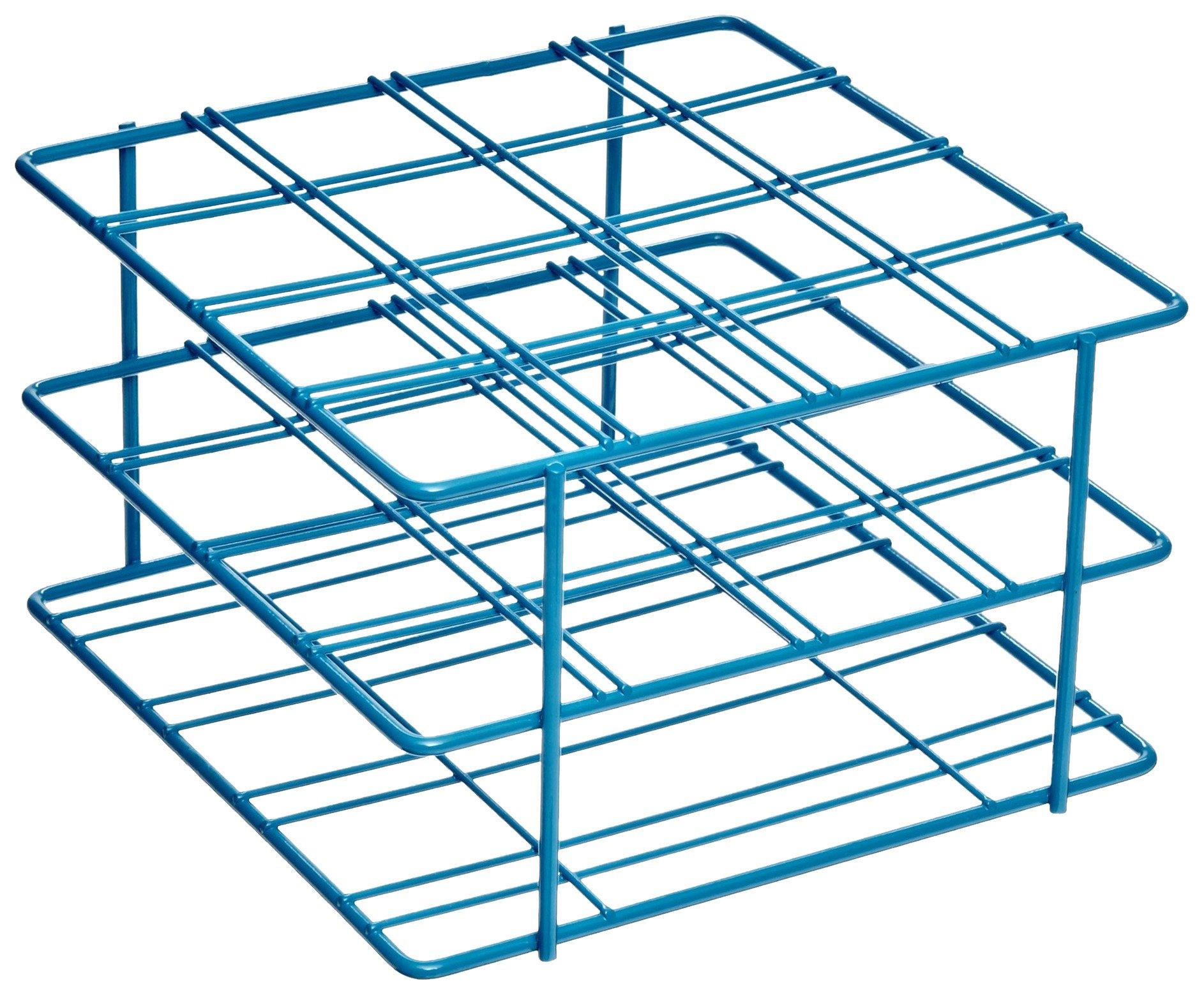 Bel-Art F18794-0001 Poxygrid Centrifuge Tube Rack; 50ml, 16 Places, 6⅛ x 5⅞ x 3⅝ in., Blue
