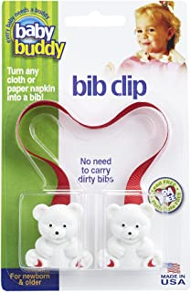 Baby Buddy Bib Clip, Red