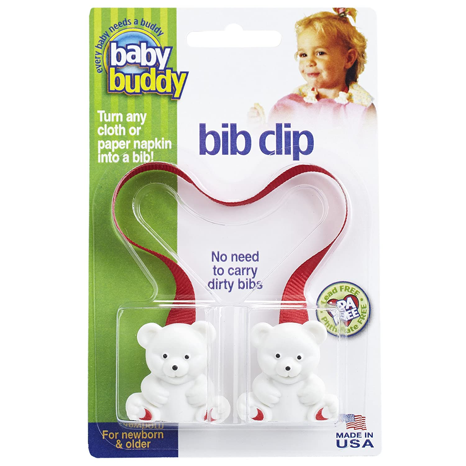 Baby Buddy Bib Clip, Blue Compac Industries 00141B
