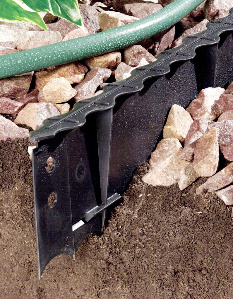 Master Mark Plastics 97201 PremierEdge Landscape Edging  5 1/4-Inch by 4-Foot, Black