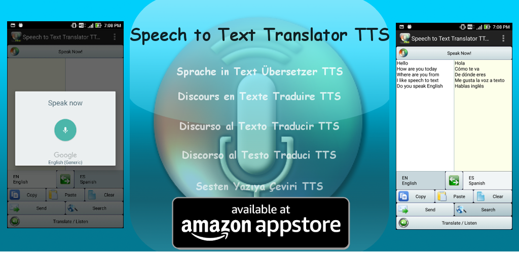 Amazon com: Speech to Text Translator TTS: Appstore for Android