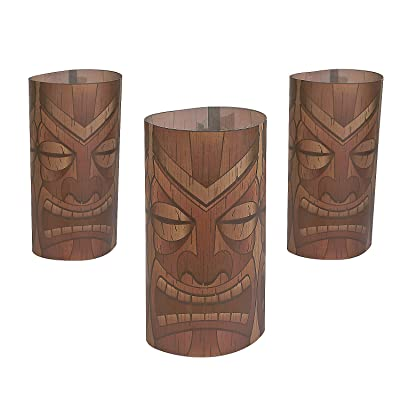 Plastic Tiki Luminary Wrap for Party - Party Supplies - Containers & Boxes - Plastic Containers - Party - 12 Pieces: Toys & Games