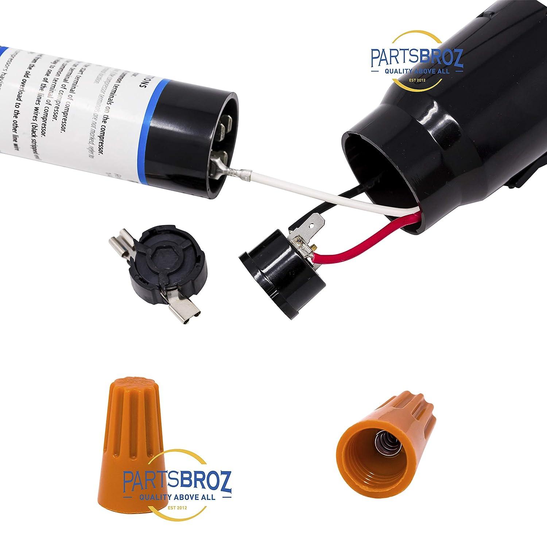 RCO410 3-in-1 Hard Start Capacitor Kit for Freezer & Refrigerator  on