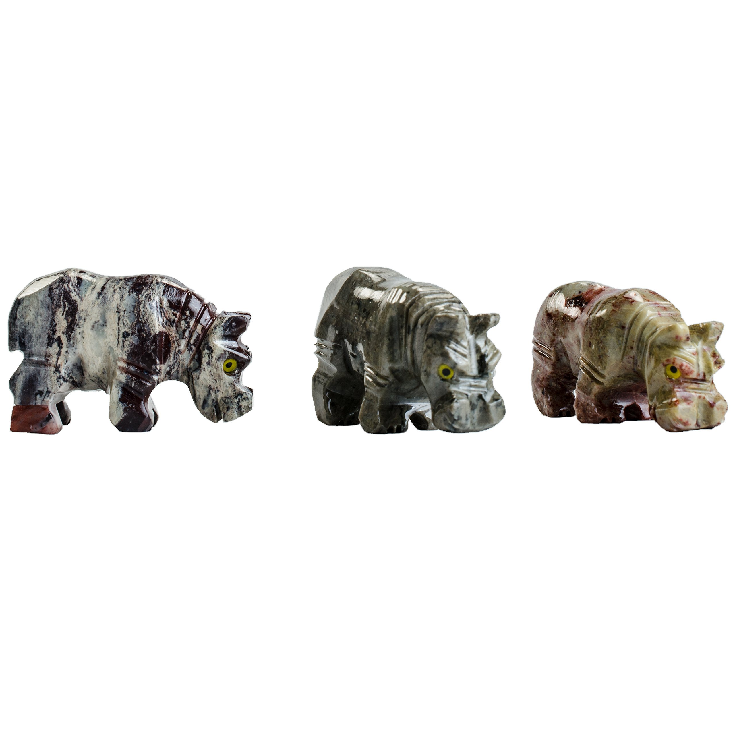 Digging Dolls : 30 pcs Artisan Hippo Collectable Animal Figurine - Party Favors, Stocking Stuffers, Gifts, Collecting and More!