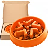 Simply Pets Online Slow Feeder Bowl for Dog - Eco-friendly Bamboo Fiber Interactive Puzzle Dish for Healthy Dogs