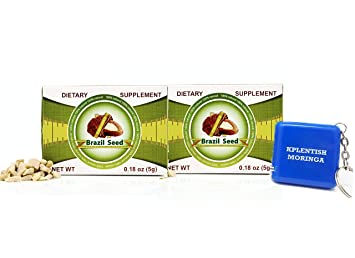 2 Pack Semilla de Brasil Brazil Seed Dietary Supplyment 60 Day Supply with Kplentish Moringa Measuring
