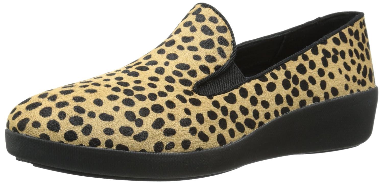FitFlop Women's F Pop Skate Pony Fashion Sneaker B00ZGU8984 9 B(M) US|Leopard