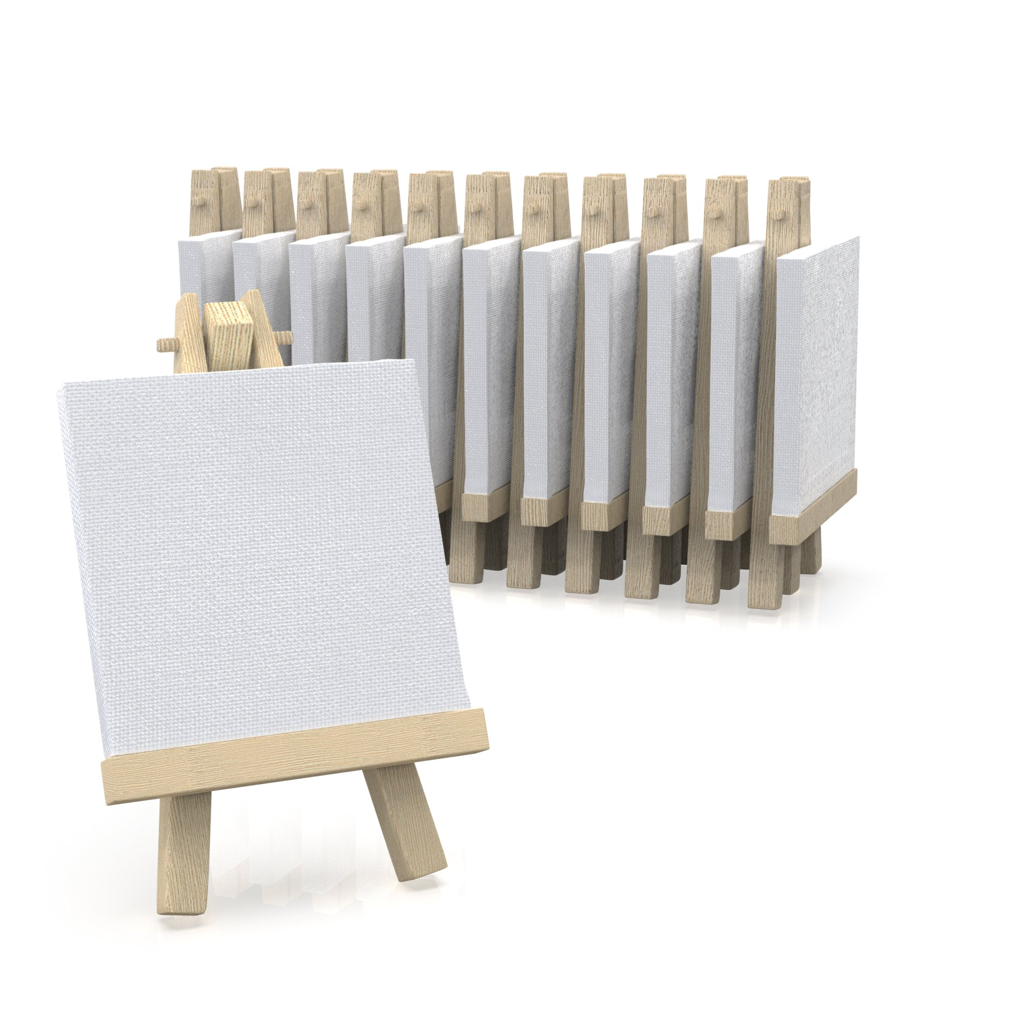 3''x3'' Canvas for Painting with Easel, Academy Art Supplies (12 Pack)