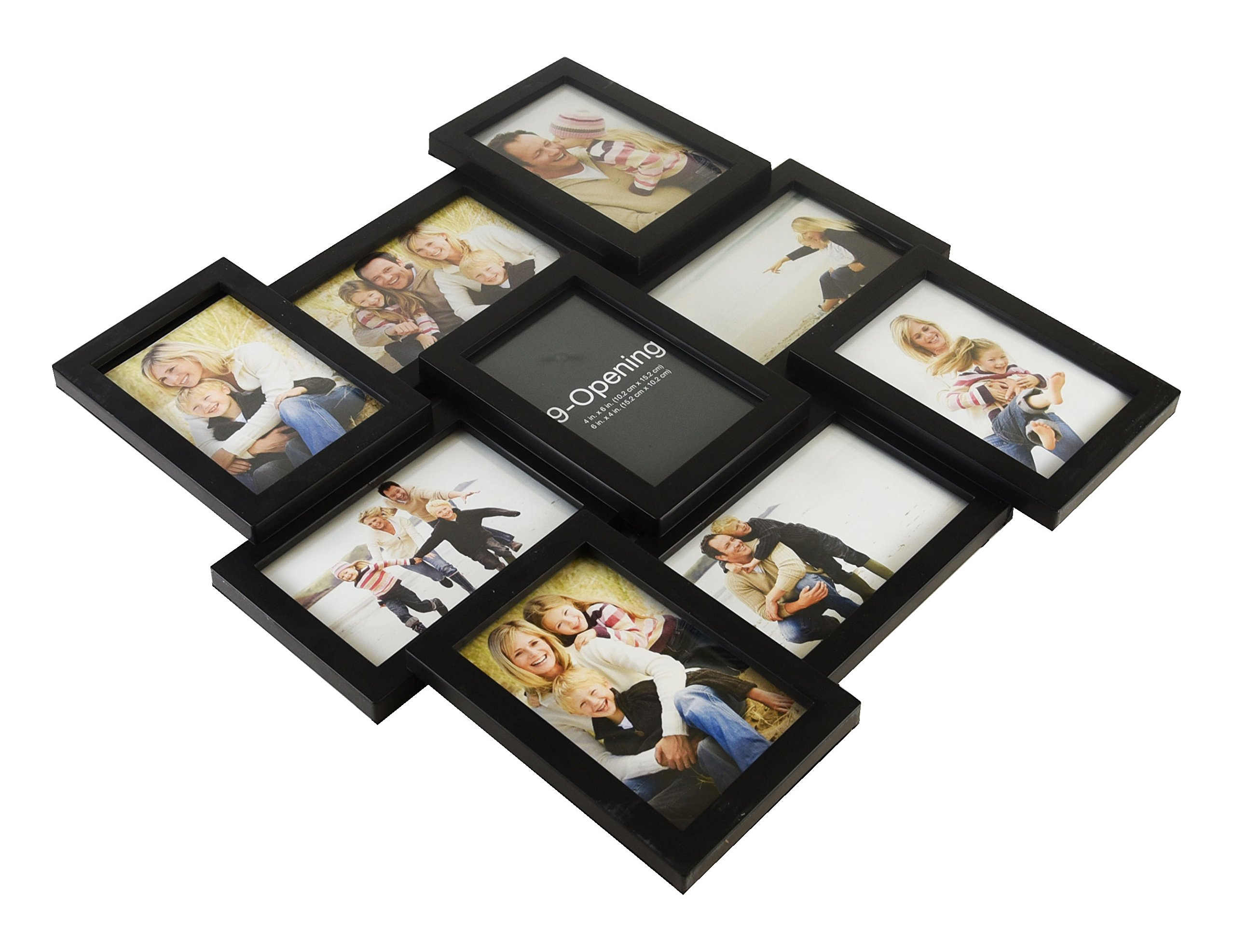 Melannco 9-Opening Puzzle Collage Picture Frame, Black - 51844034 ...