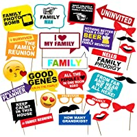 Party Propz Family Photobooth (Set of 48) for Birthday,Bachelorette,Wedding,Baby Shower Decoration