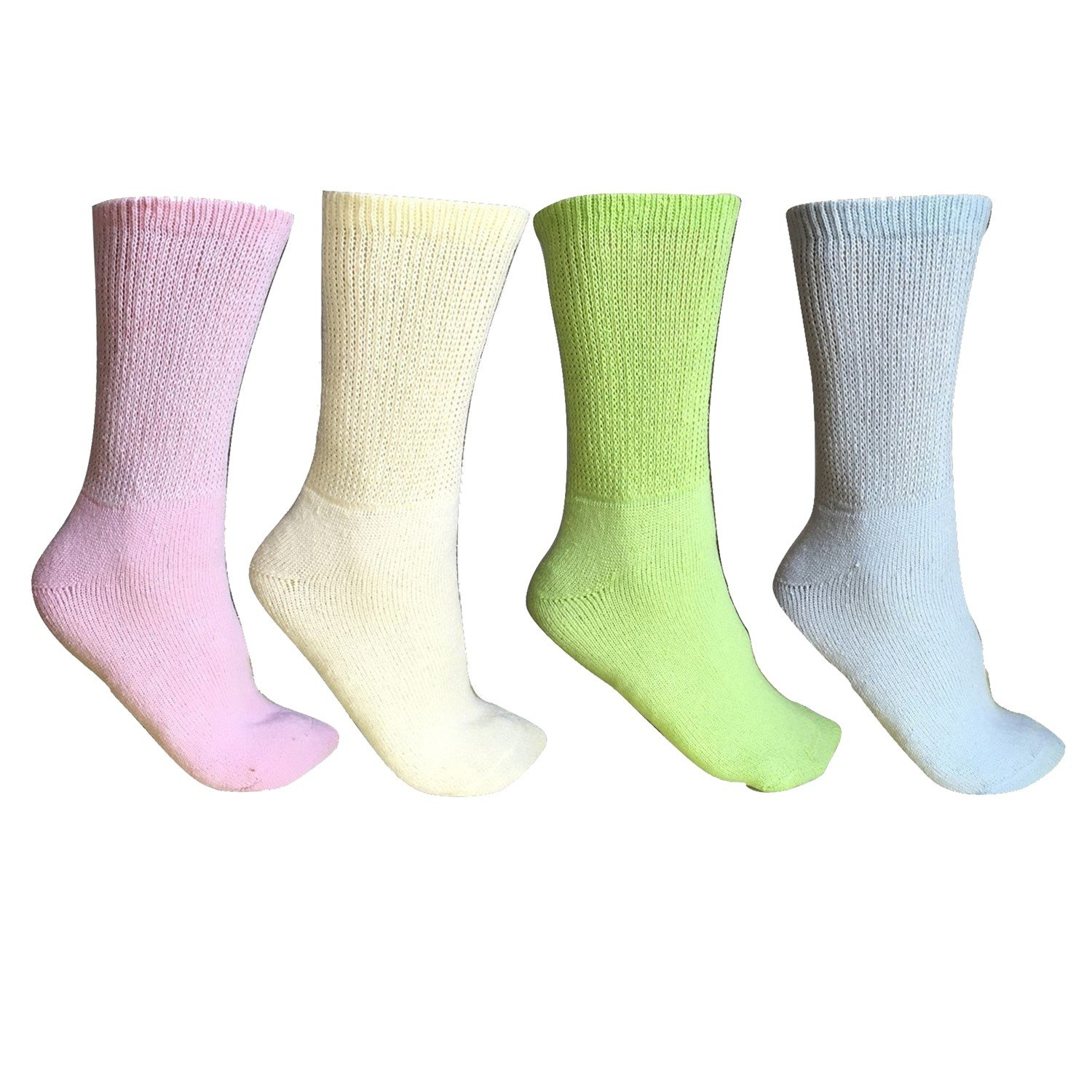 Diabetic Socks, 6 pairs, Non Binding Top, Won't limit circulation, Minimize friction and Neurological discomfort (9-11, multi-color)
