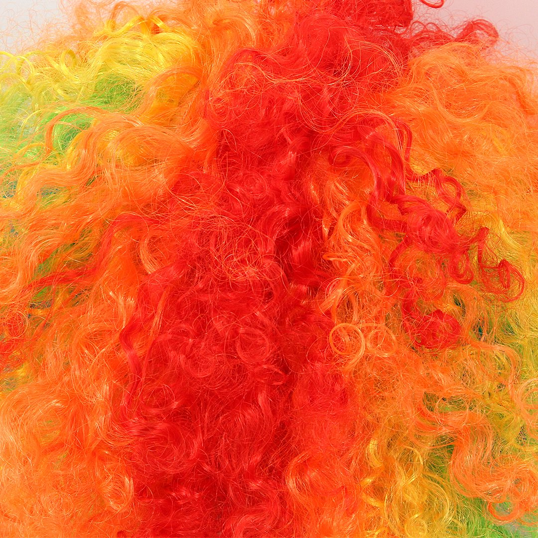 La moriposa Unisex 60s 70s Hippie Style Afro Wig for Halloween Costume Party Disco