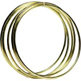 Bistore - Set of 5pcs Gold Dream Catcher Metal Hoops, (Dream Catcher Metal Rings) (8-inch gold)