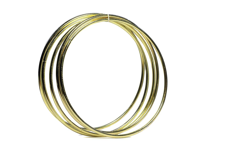 Bistore - Set of 5pcs Gold Dream Catcher Metal Hoops, (Dream Catcher Metal Rings) (5-inch gold) Bi Store