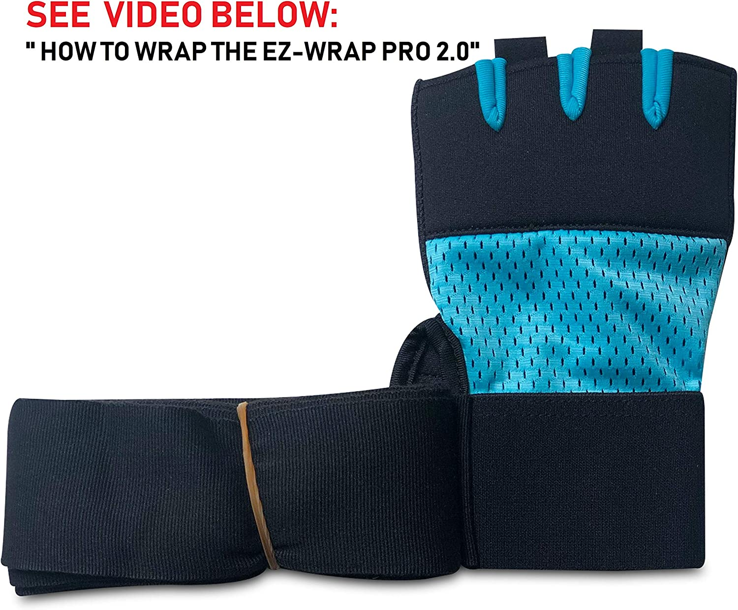 B07YK1DG6Q EZ-WRAP PRO 2.0 Boxing Hand Wraps for Women: Gel Knuckle Protection Inner Glove with Mexican Style Wrap, Superior Wrist Support for Boxing,Kickboxing and Martial Arts Workouts. 711PHP35mzL
