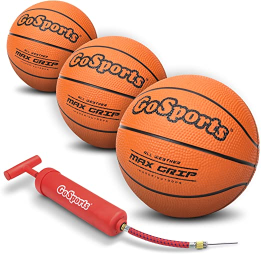 """Amazon.com : GoSports 7"""" Mini Basketball 3 Pack with Premium Pump - Perfect for Mini Hoops or Training : Sports & Outdoors"""