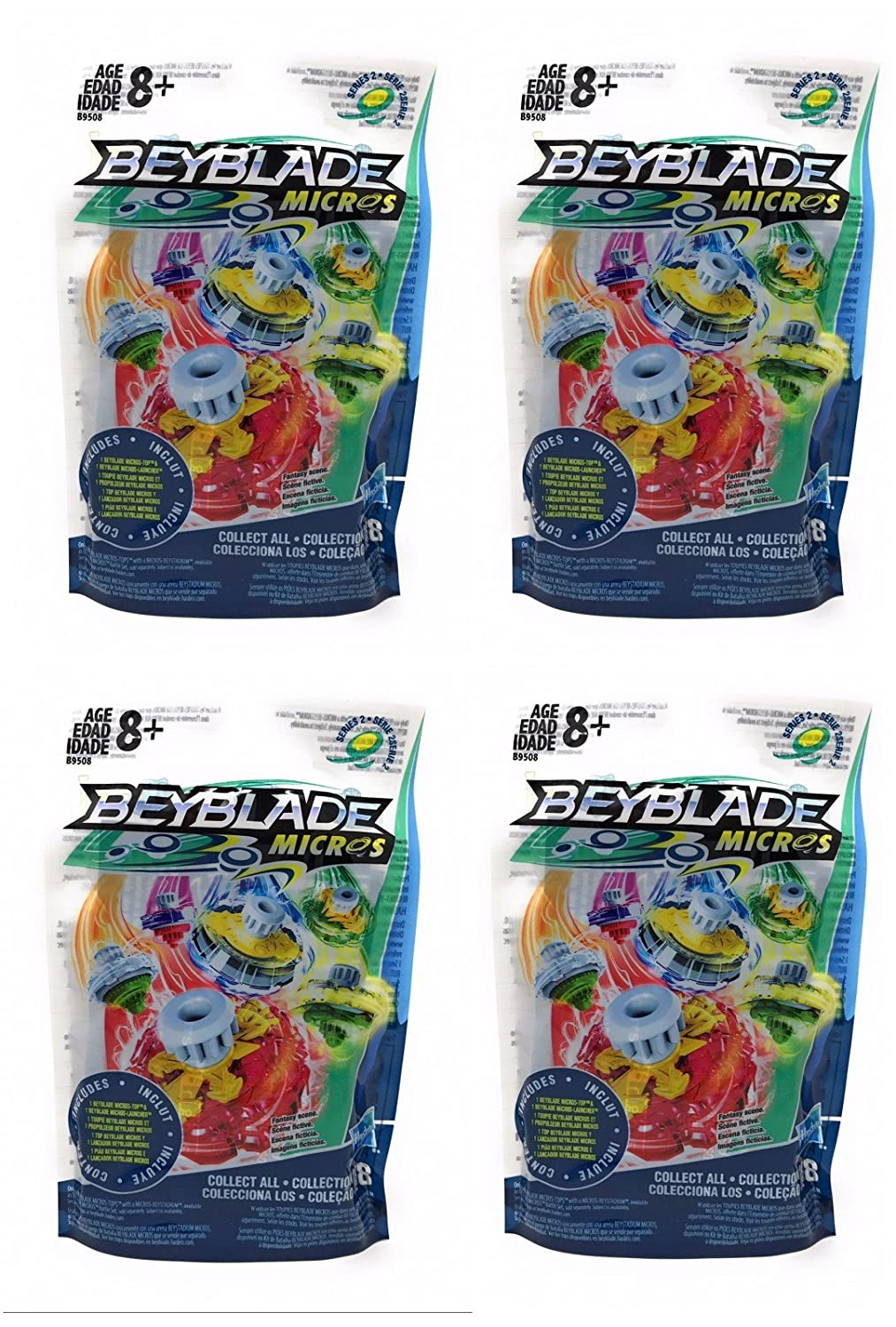 Beyblade Micros Series 2 Blind Bag Pack of 4 B07CT3754S
