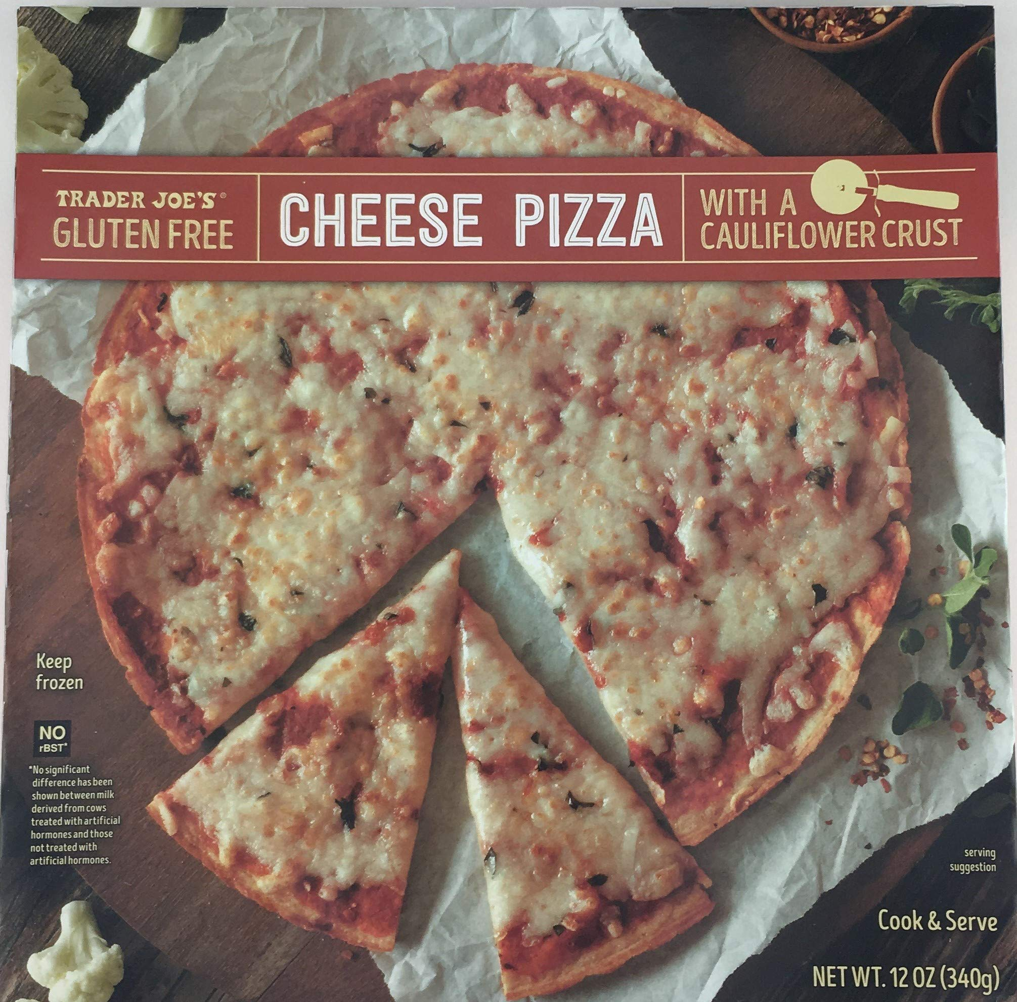 Trader Joe's Gluten Free Cheese Pizza with Cauliflower Crust (4 Pack) by Trader Joe's Grocery (Image #1)