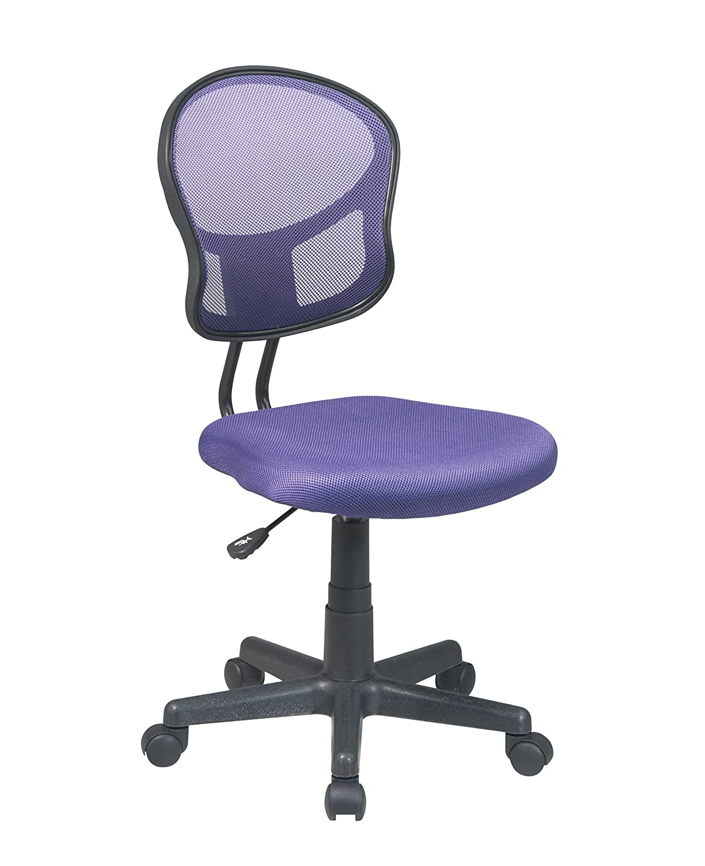 Office Star Mesh Back and Padded Seat Task Chair, Orange EM39800-18
