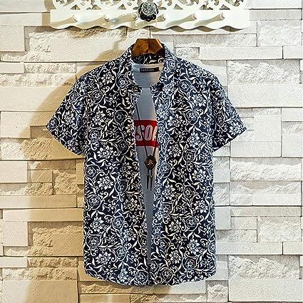 Overdose Camisas Hombre Manga Corta Tallas Grandes Originales Italianas Vintage Camisetas Hombres de Verano Hawaiana Ibicenca Fiesta Estampados: Amazon.es: Ropa y accesorios