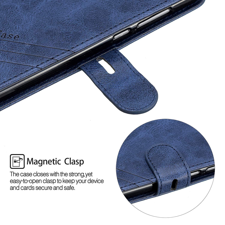Klapph/ülle Leder Flip Case Schutzh/ülle Tasche Cover mit St/änder Magnet Kartenfach f/ür Huawei P8Lite 2017 NEXCURIO H/ülle Huawei P8 Lite 2017 NEHEX120315 Schwarz