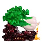 "INK WASH Feng Shui Bai Choi Pok Choi Cabbage Charm Gifts for Wealth Luck Office Living Room Home Decoration 4.5""x4.5"""