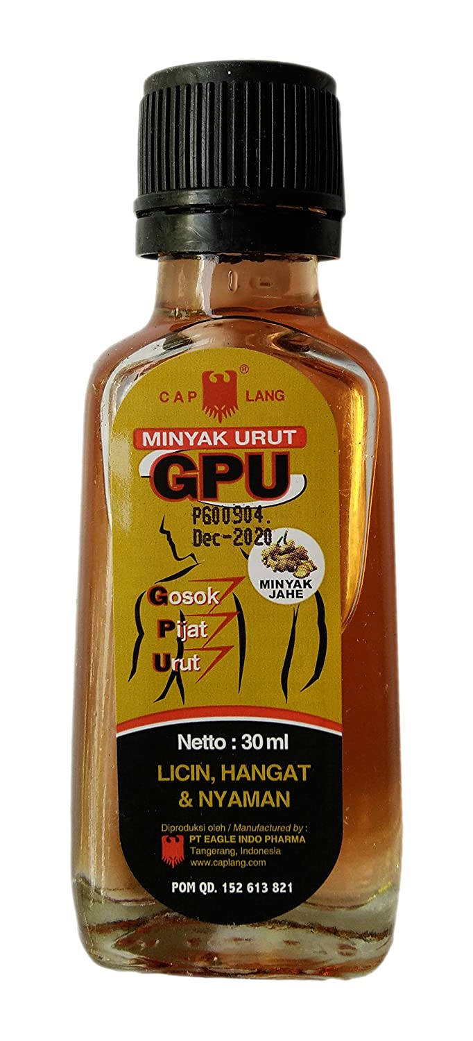 Cap Lang Eagle Brand Gpu Liniment With Ginger Jahe Oil Krim Minyak 30ml Pack Of 2 Health Personal Care