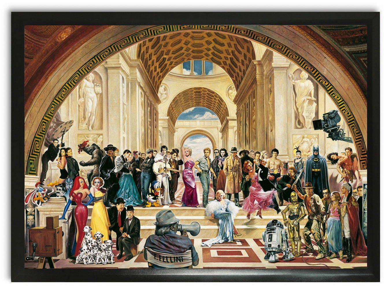 Bild Kunstdruck Renato Casaro 100 years of film Hollywood James Dean Elvis Presley star wars xxl
