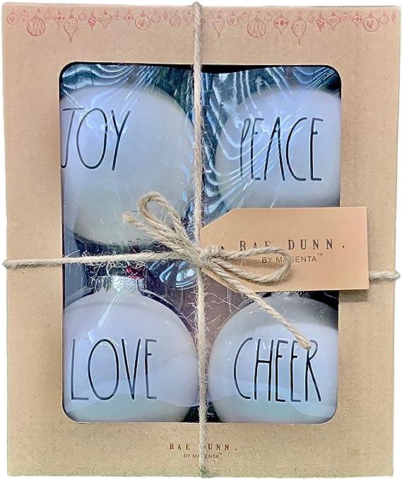 custom christmas chirstmas decal cheer rae dunn decals believe jingle joy noel Rae Dunn Inspired Christmas Ornament Decals-set of 9 peace jolly farmhouse decor merry love holiday decal